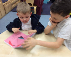 Enjoying Year 4 Pop-up Books